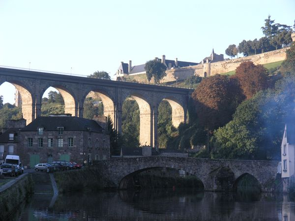 Viaduct and Canal in Dinan, Brittany
