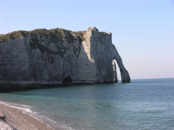 The white cliffs at Etretat, Normandy