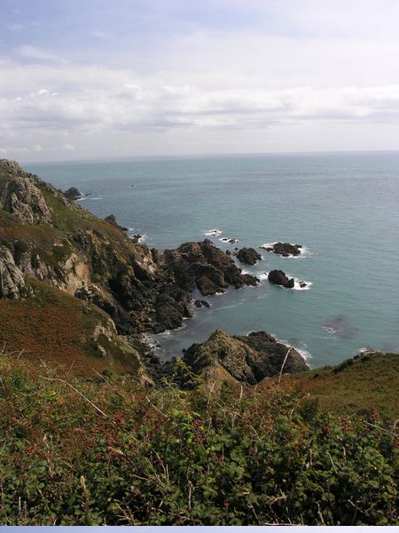 Cliffs on Guernsey's Southern Coast